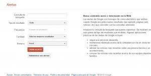 google alerts para tu negocio web