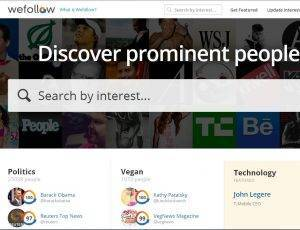 Wefollow para tu negocio web